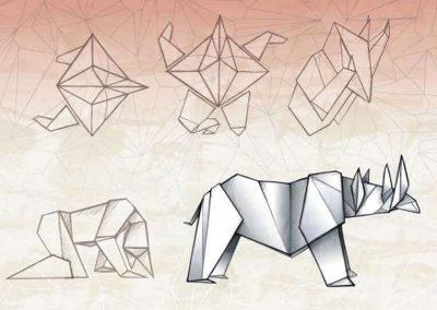 """Affiche de la pièce de théâtre """"Rhinocéros"""""""